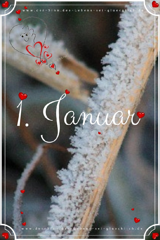 1. Januar ~ Neujahrsgrüße