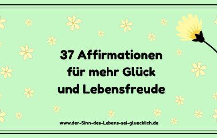 37 Affirmationen