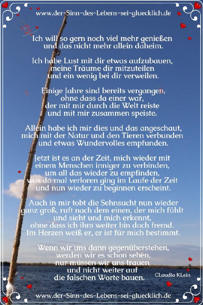Wünsche fürs Leben ~ der Wunsch nach Nähe!